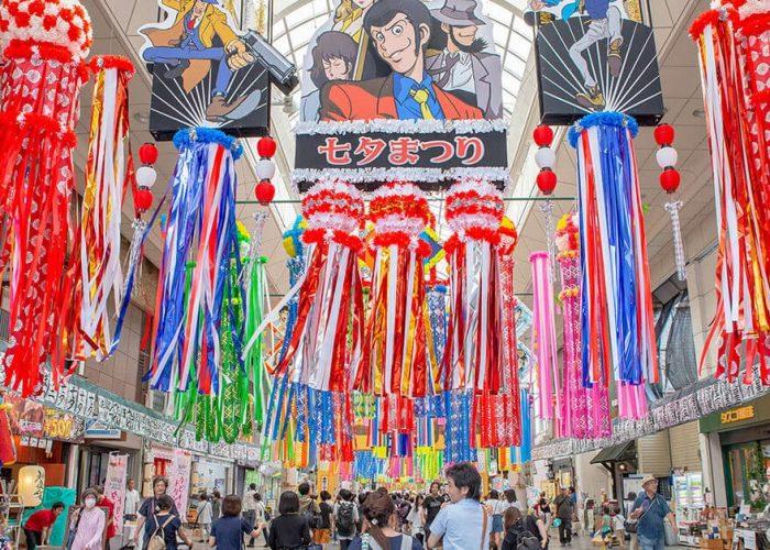 Tanabata festival streamers