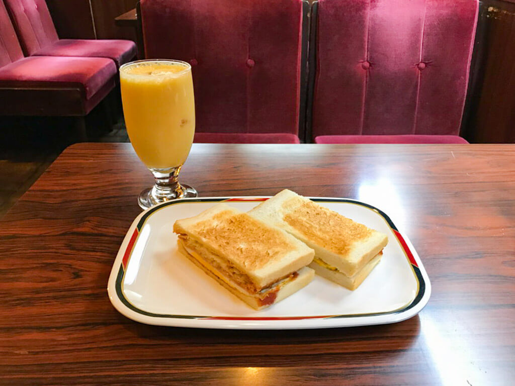 Ham egg toast as your Morning Service at Konparu.