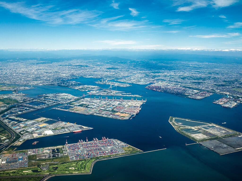 Nagoya Port Aerial photo