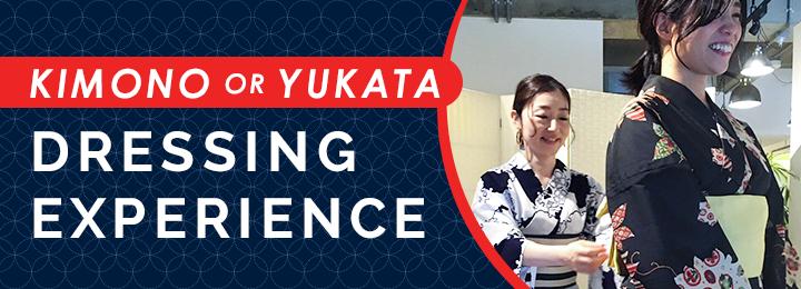 Kimono (or Yukata) Dressing Experience banner