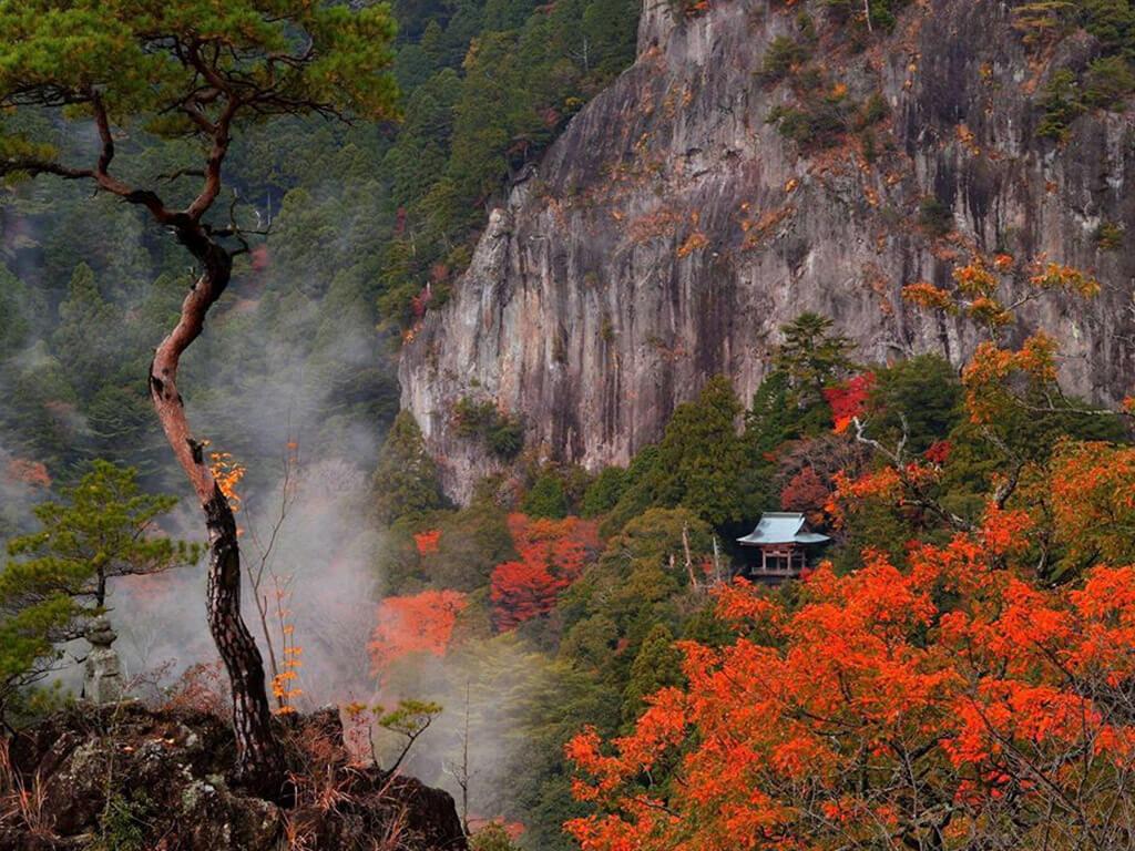 Mount Horaiji in autumn