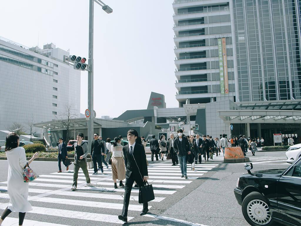 Nagoya station on foot