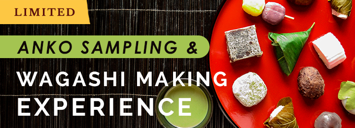 Anko Sampling and Wagashi Making Experience