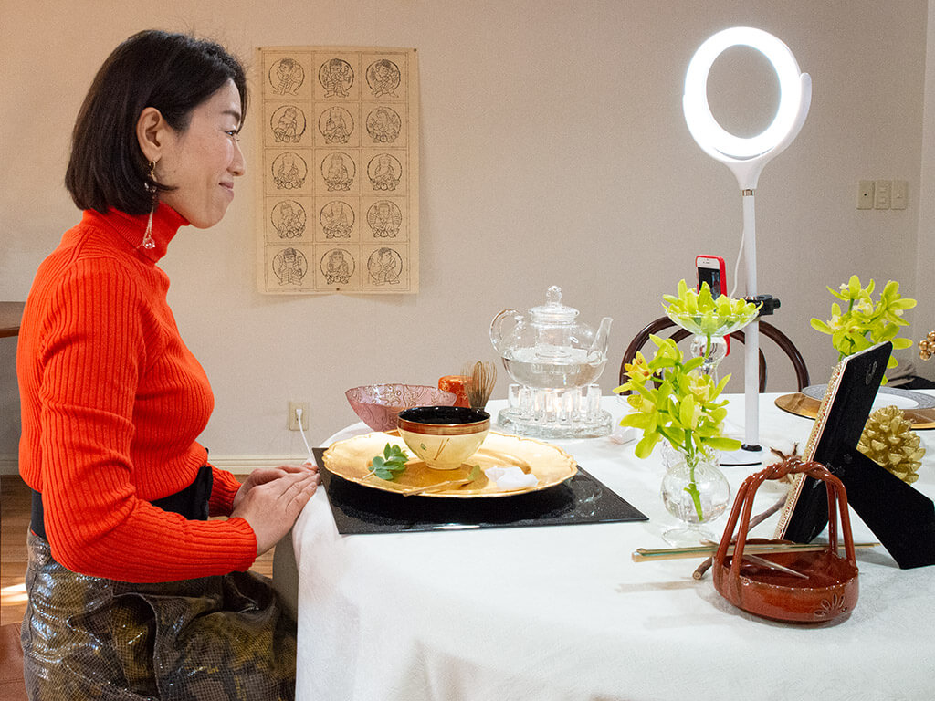 "Online ""Table Style Sado"" Tea Ceremony Experience 03"