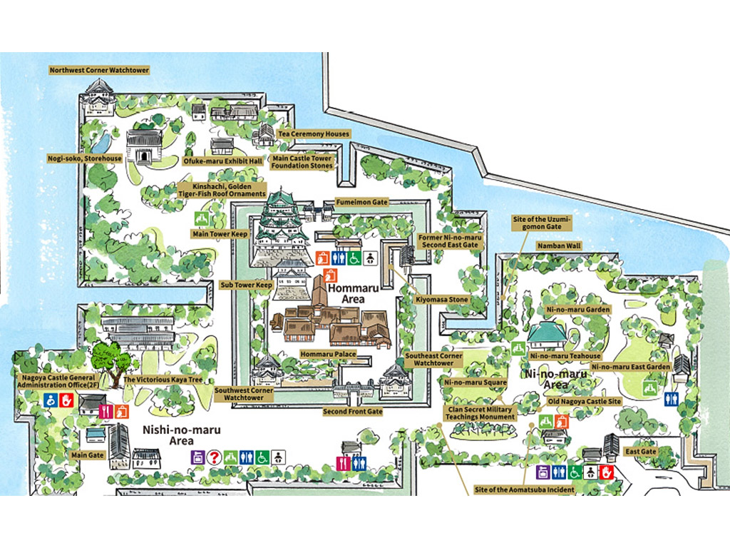 Nagoya Castle Map