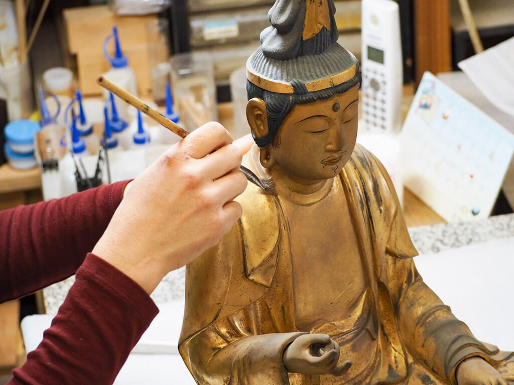 Buddhist Statue Painting