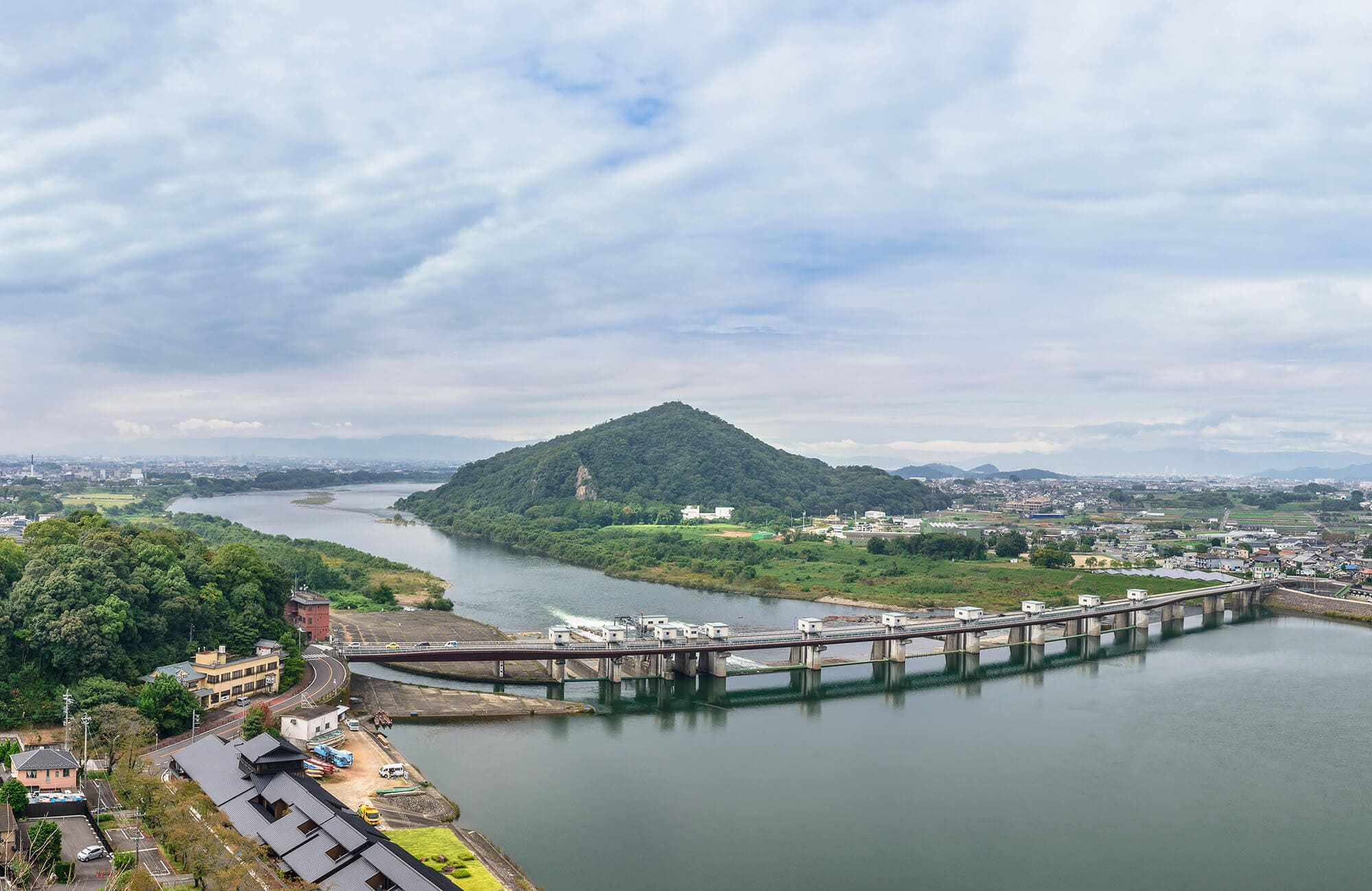 Inuyama city's view from Inuyama Castle