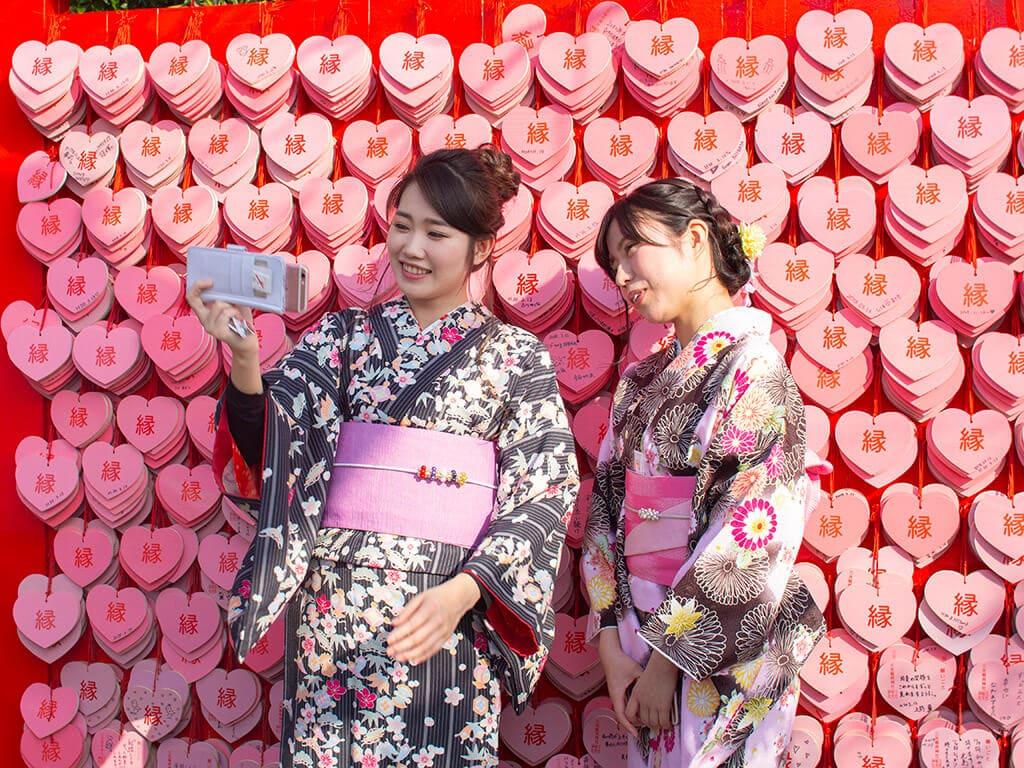 Sanko Inari Shrine heart-shaped Ema