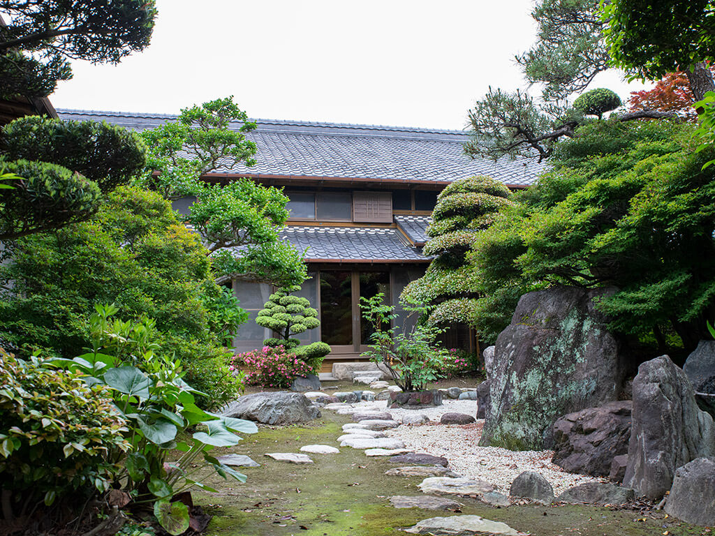 Japanese garden and home