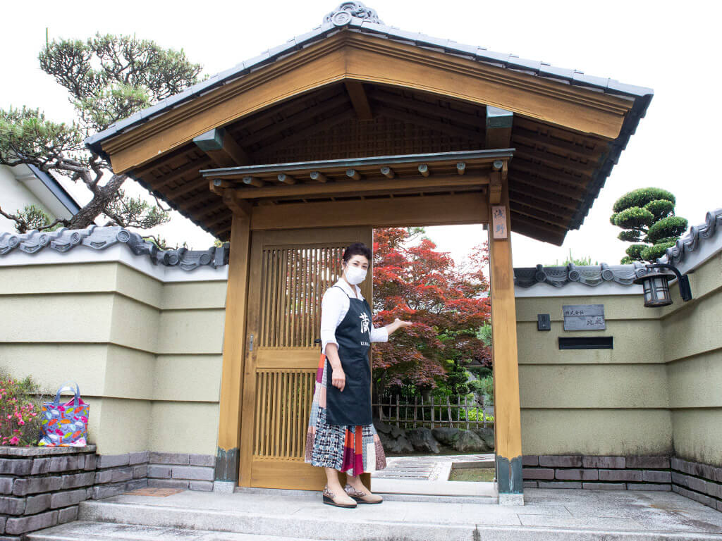 Welcoming to old Japanese home