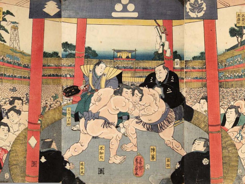 Sumo tournament Ukiyo-e